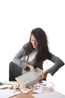 Free Girl Crushes Keyboard Stock Photos - 16628903