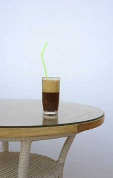 Free Glass Of Cold Coffee Stock Photography - 16628942