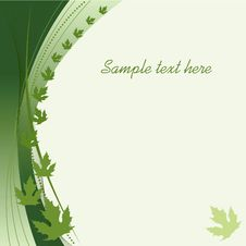 Free Green Autumn Abstract Background Royalty Free Stock Photo - 16628955