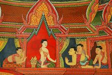 Free Mural Buddhist Temple Thailand Royalty Free Stock Photo - 16628975