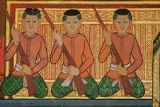 Free Mural Buddhist Temple Thailand Stock Photography - 16629012