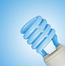 Free Lamp On Blue Background Royalty Free Stock Photos - 16629318