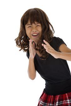 Free Girl In Karate Pose Royalty Free Stock Photo - 16629495