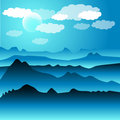 Free Snowy Hills Illustration Royalty Free Stock Image - 16630006