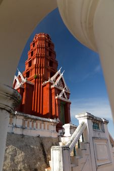 Free Red Brick Palace At Petchburi Stock Photography - 16630412