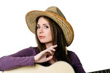 Free Girl With Guitar Royalty Free Stock Photos - 16631298