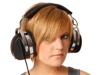 Free Girl With Headphones Stock Photography - 16631342