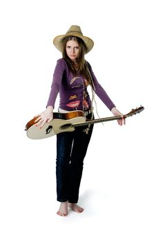 Free Girl With Guitar Royalty Free Stock Image - 16631346
