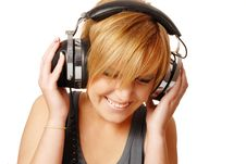 Free Girl With Headphones Royalty Free Stock Images - 16631359