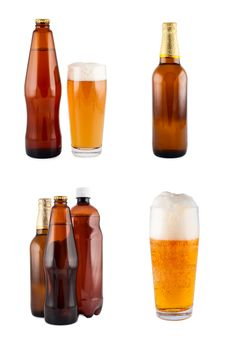Free Beer In Bottles, Glass, Set. Stock Images - 16631454