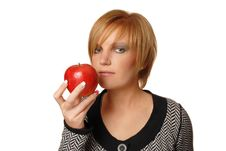 Free Redhead Girl With Apple Stock Image - 16631661