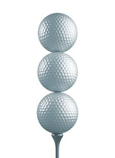 Free Three Golf Balls Royalty Free Stock Photo - 16632145