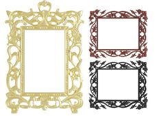 Decorative Vintage Empty Wall Picture Frames Stock Image
