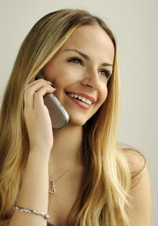 Free Girl Talking On The Phone Stock Image - 16633541