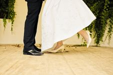Closeup Of Bride And Groom Royalty Free Stock Photography