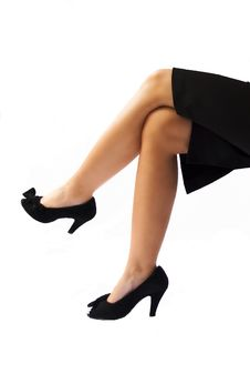 Free Sexy Legs Of A Businesswoman Royalty Free Stock Image - 16633596