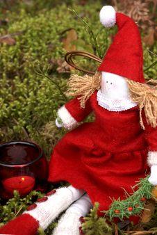 Free Christmas Angel Sitting Stock Photos - 16634203