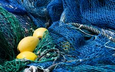 Free Blue Fishing Nets Stock Images - 16634284