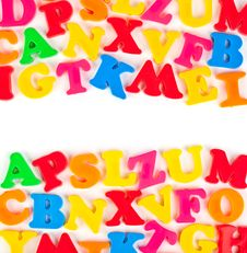 Free Multicolored Toy Letters Royalty Free Stock Photo - 16634365