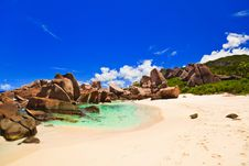 Free Tropical Beach At Seychelles Royalty Free Stock Photo - 16634385