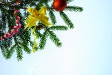 Free Decorated Firry Bough Royalty Free Stock Photography - 16634427