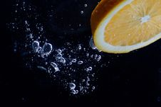 Free Orange And Splash Water Stock Image - 16634471