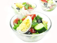 Greek Salad In Bowls Stock Photography