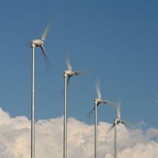 Free Spinning Wind Turbines Stock Photo - 16635700