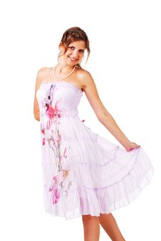Free Charming Young Girl In Dress Royalty Free Stock Photography - 16635717