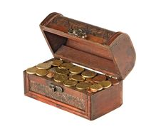 Free Wooden Treasure Chest Stock Photography - 16635772