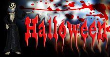 Halloween Cartoon Skeleton Royalty Free Stock Image