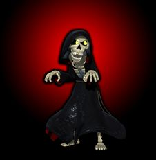 The Cartoon Grim Reaper Royalty Free Stock Images