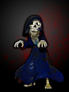 Free The Cartoon Grim Reaper Stock Images - 16636014