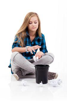 Free Throwing Rubbish. Stock Image - 16636841