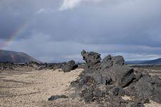 Free Lunar Like Landscape, Iceland Royalty Free Stock Images - 16637039