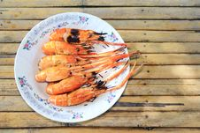 Free Grill Shimp On The Plate Stock Image - 16637141