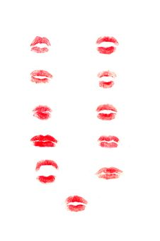 Free Lips Pattern Texture Stock Images - 16638124