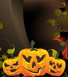 Free Glowing Pumpkin Head Stock Images - 16638224
