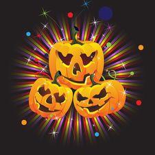 Free Laughing Jack O Lanterns Royalty Free Stock Photos - 16638248
