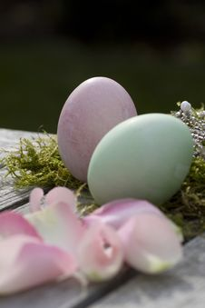 Free Two Easter Eggs Stock Photography - 16638272