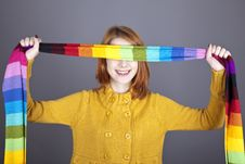 Free Girl With Scarf Near Eyes. Royalty Free Stock Photography - 16638687