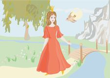 Free Princess With A Bird Stock Photo - 16638890
