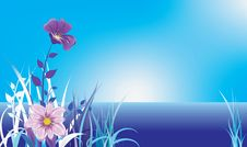 Free Blue Landscape Stock Photography - 16639172