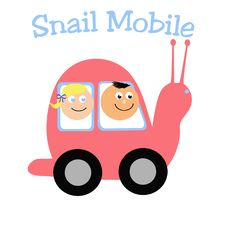 Snail Mobile Royalty Free Stock Photo