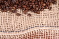 Free Burlap Material And Coffee Royalty Free Stock Photography - 16642087