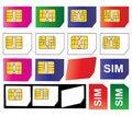 Free Sim Cards Royalty Free Stock Photos - 16645218