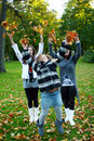 Free Young Family In Autumn Park Royalty Free Stock Images - 16649929