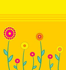 Free Simple Background With Flowers. Royalty Free Stock Photos - 16640478