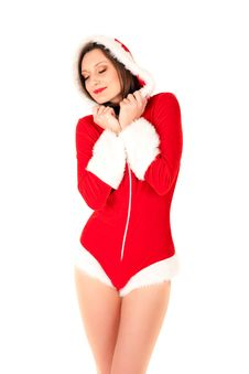 Free Sexy Santa Girl Stock Photography - 16640522