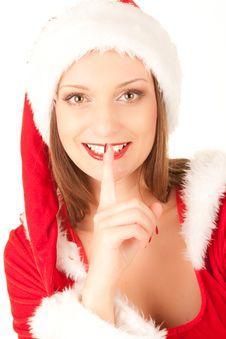 Free Santa Girl Royalty Free Stock Photography - 16640577